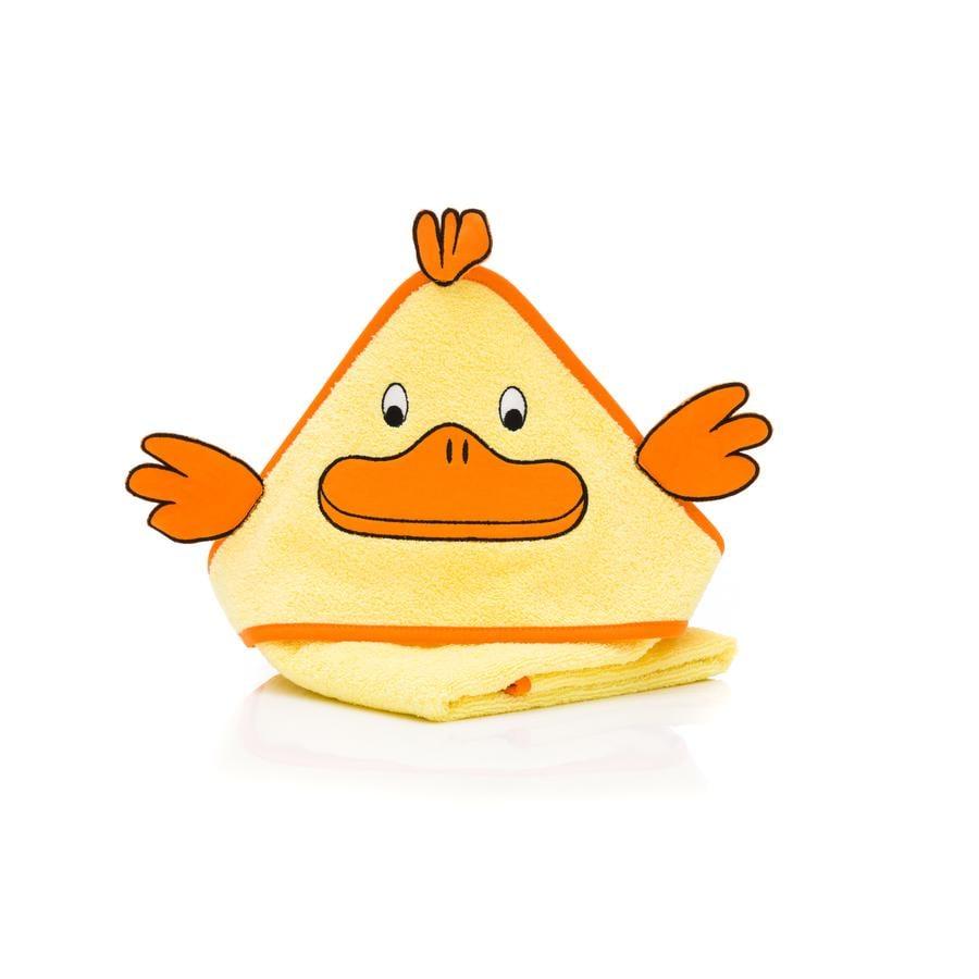 fillikid  Serviette de bain à capuche canard 75 x 75 cm