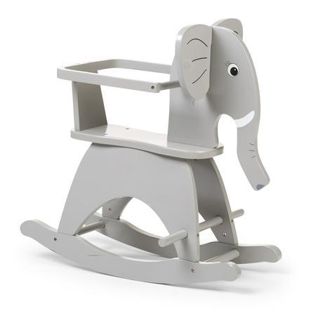 CHILDHOME Animal à bascule éléphant, arceau bois