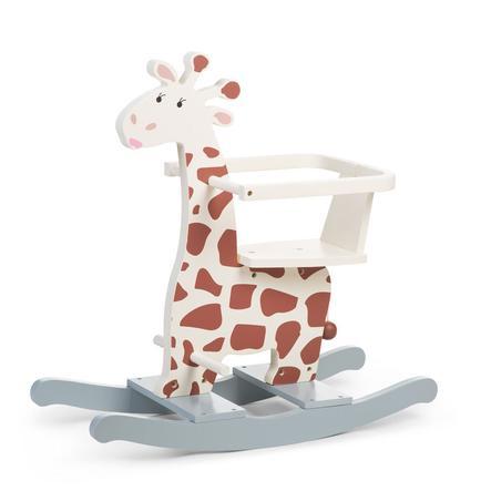 CHILDHOME Animal à bascule girafe, arceau bois