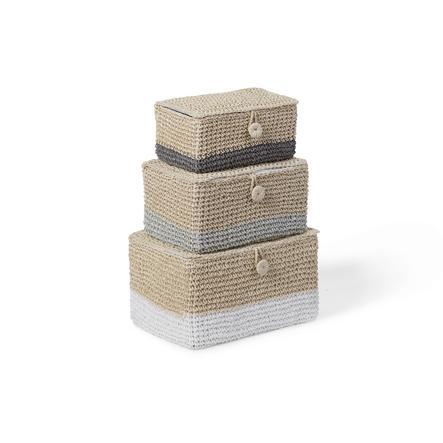 CHILD HOME Cestino portaoggetti in carta intrecciata set da