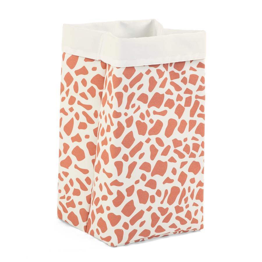 CHILDHOME opbevaringsboks hvid giraf 32 x 32 x 60 cm