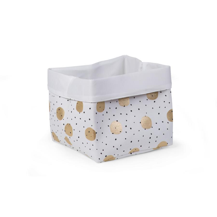 CHILDHOME Aufbewahrungsbox weiß Gold Dots 32 x 32 x 29 cm