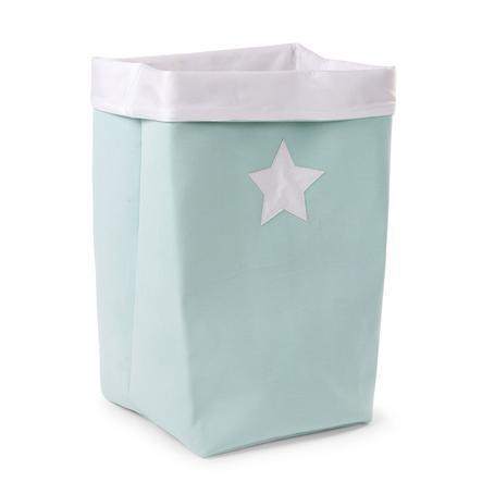 CHILDHOME Aufbewahrungsbox mint, weiß 32 x 32 x 60 cm