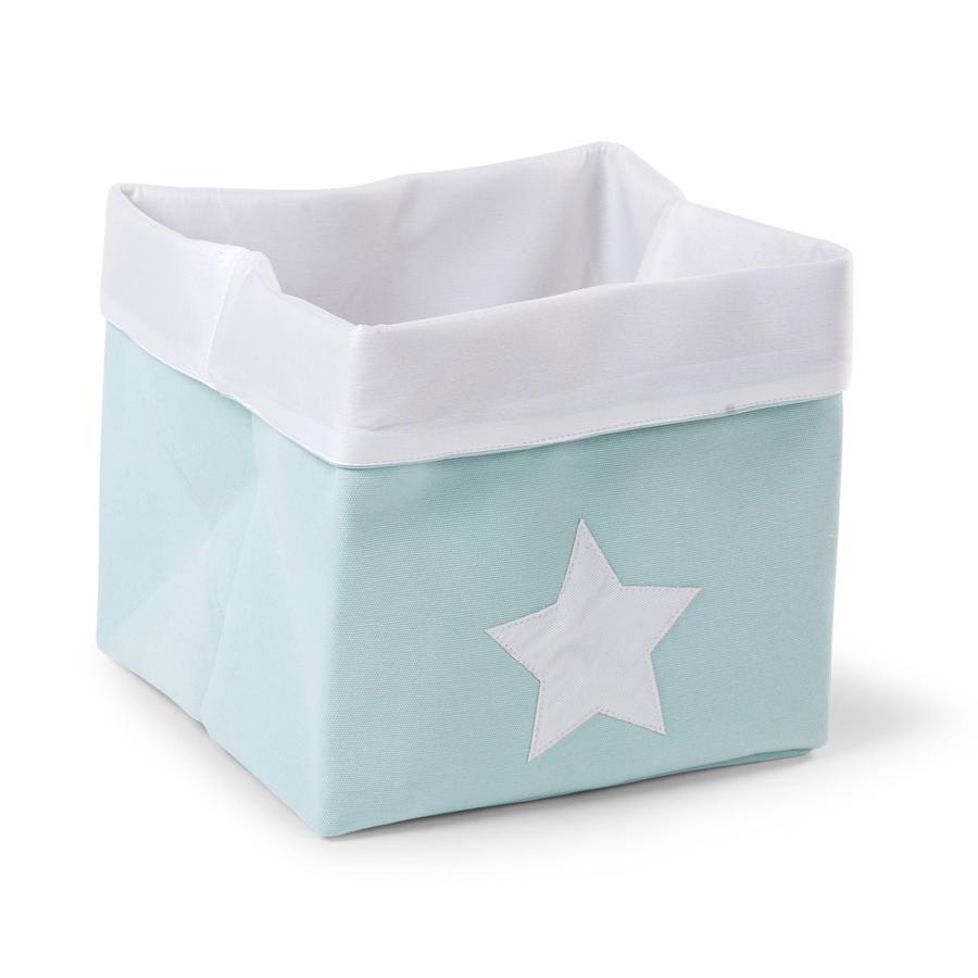 CHILDHOME Aufbewahrungsbox mint, weiß 32 x 32 x 29 cm