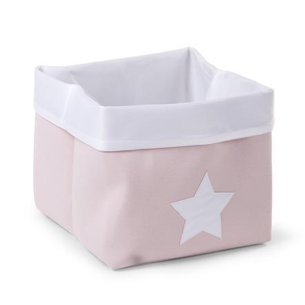 CHILDHOME opbevaringsboks soft rosa, hvid 32 x 32 x 29 cm
