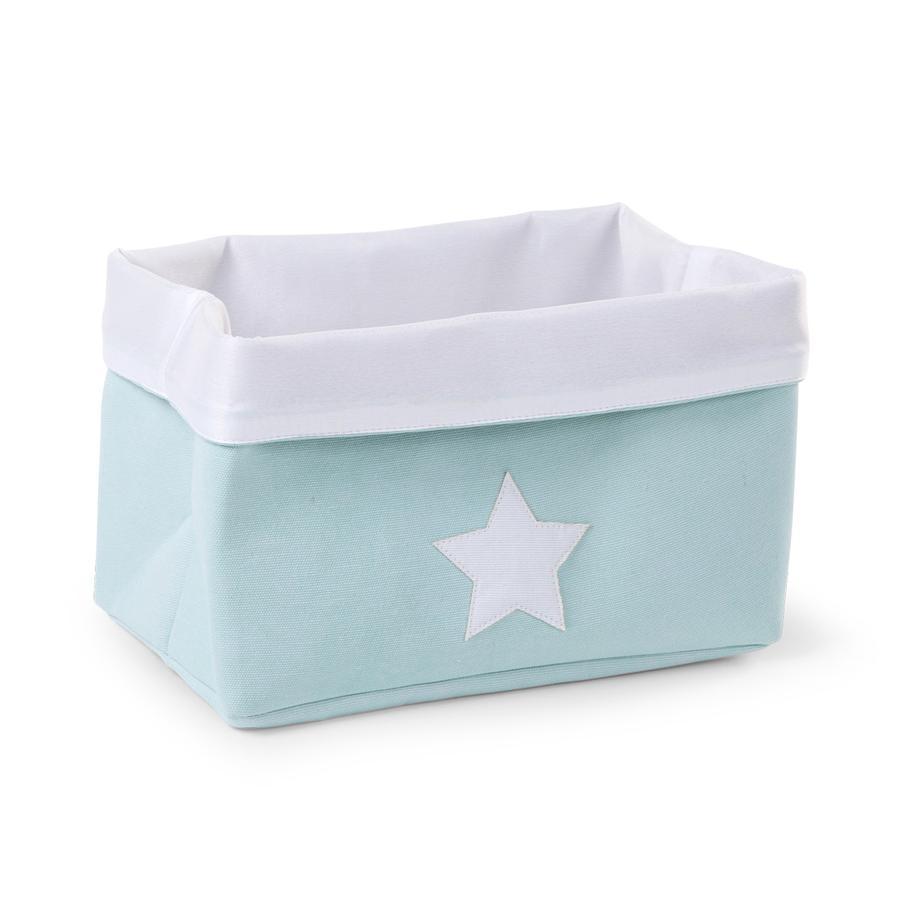 CHILDHOME Aufbewahrungsbox mint, weiß 32 x 20 x 20 cm