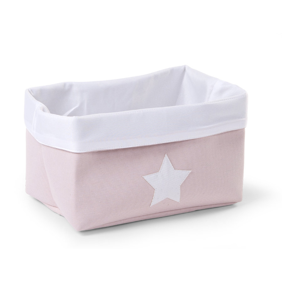 CHILDHOME Aufbewahrungsbox soft rosa, weiß 32 x 20 x 20 cm