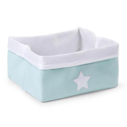CHILDHOME Aufbewahrungsbox mint, weiß 40 x 30 x 20 cm