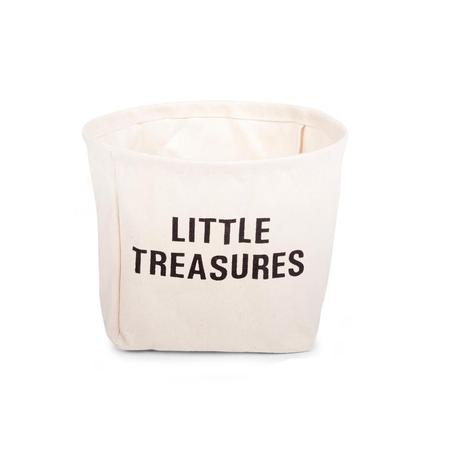 CHILDHOME Kleiner Aufbewahrungskorb aus Baumwolle Kids Little Treasures