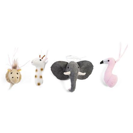 CHILDHOME Gymtoys Vilten dierenhoofden 4 stuks