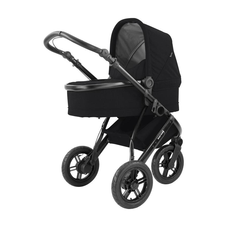 knorr-baby Barnvagn BrakeSport 3 med handbroms, svart
