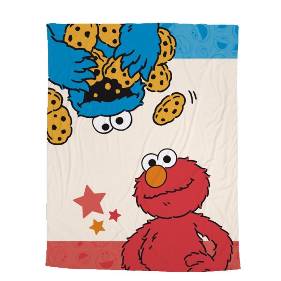 NICI Ulica Sezamkowa Kuscheldecke Krümel monster i Elmo 125 x 160 cm 41978