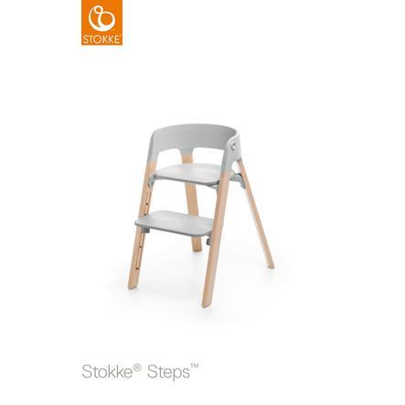 STOKKE® Steps™ Hochstuhl grau Buche natur