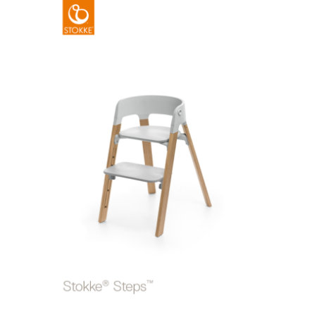 STOKKE® Steps™ Hochstuhl grau Eiche natur
