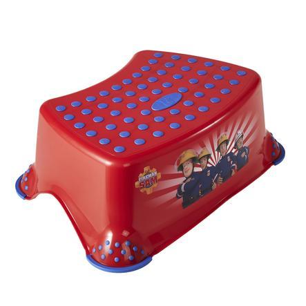 keeeper Taburete de escalera tomek bombero Sam rojo antideslizante de una etapa