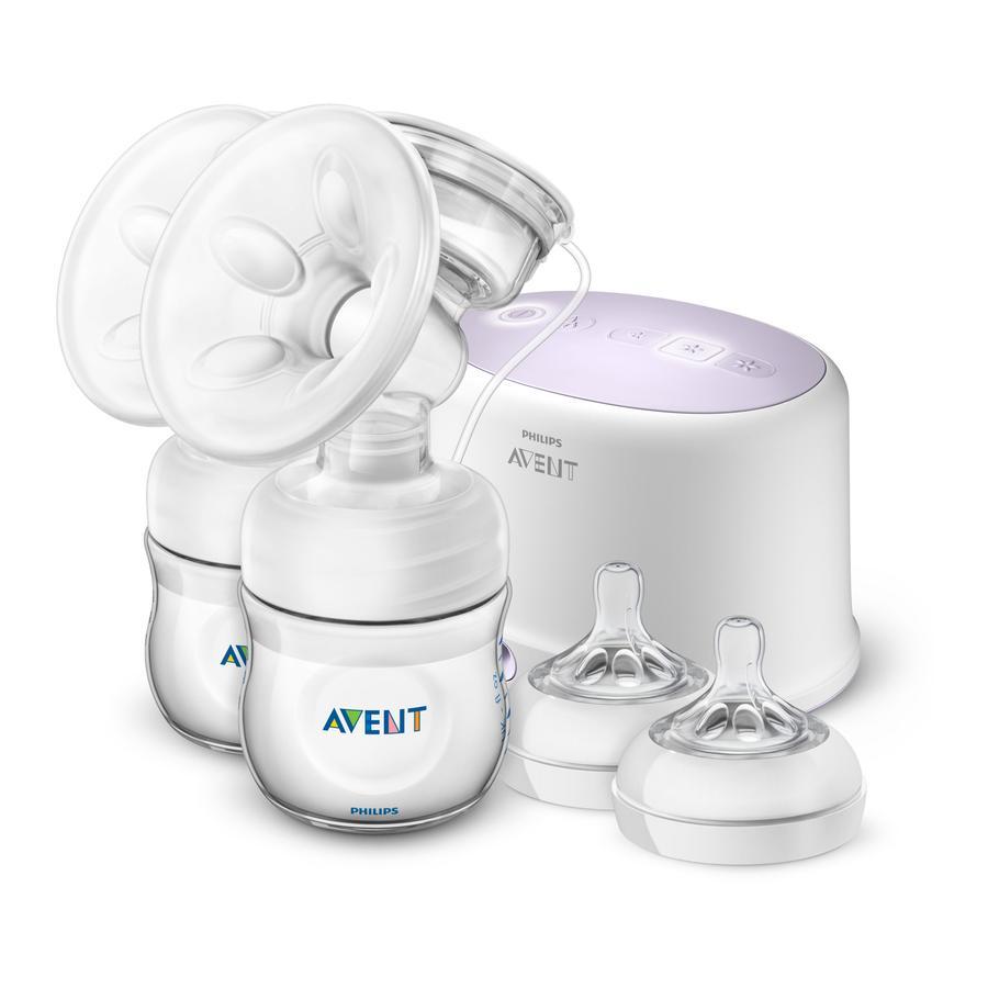 Philips Avent Elektrische Doppel-Milchpumpe SCF334/31 weiß ab der Geburt