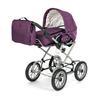 BRIO Cochecito combi para muñecas violeta, con bolso cambiador