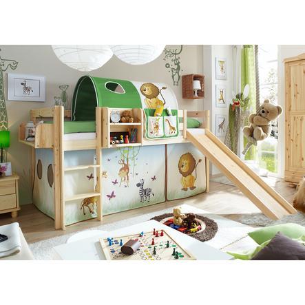 TICAA Patrová postel se skluzavkou MANUEL borovice přírodní safari