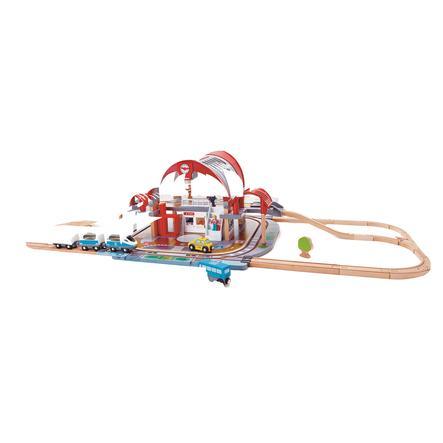 Hape Train circuit gare de métropole bois E3725
