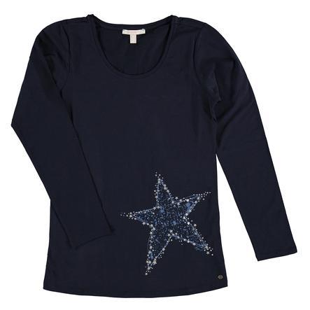 ESPRIT circonstance T-Shirt manches longues Bleu nuit