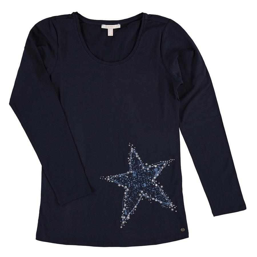 ESPRIT okoliczności T-Shirt długi rękaw Nocny Niebieski