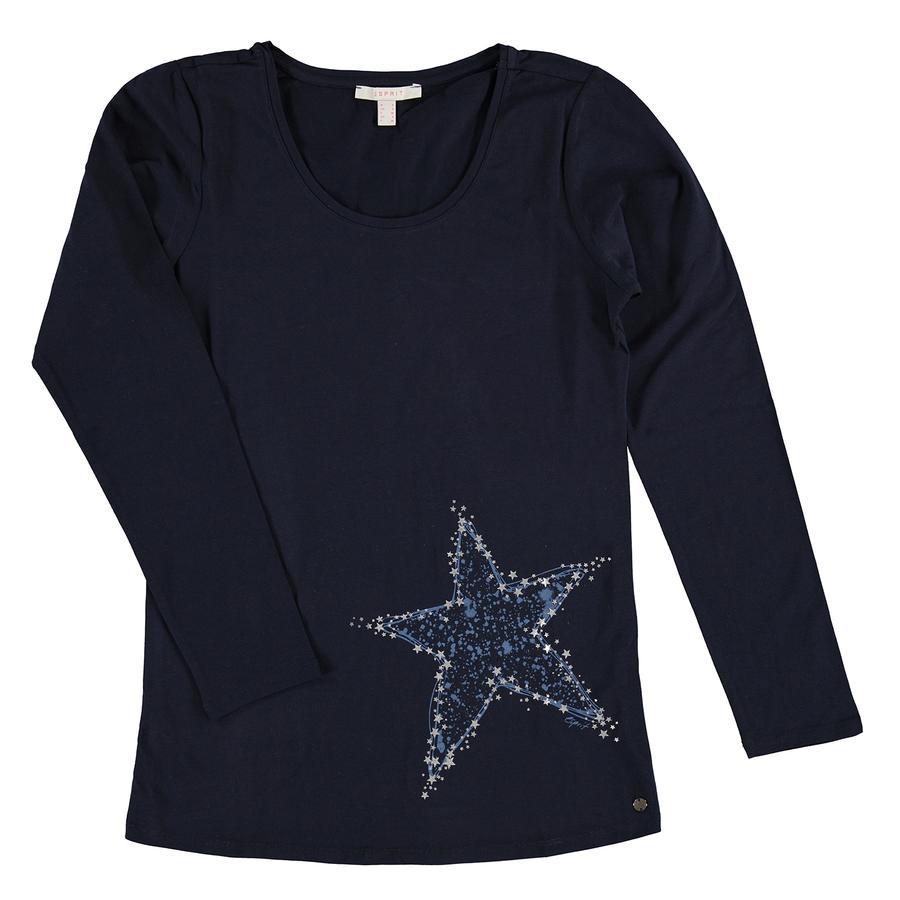 ESPRIT omstandigheid T-Shirt lange mouw Nachtblauw