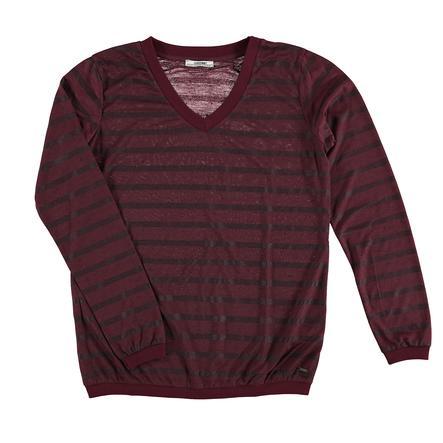 LOVE2WAIT Koszula z długim rękawem w paski Burgundia w paski