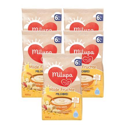 Milupa Milchbrei Guten Morgen Milde Früchte 5 X 400 G Ab Dem 6 Monat