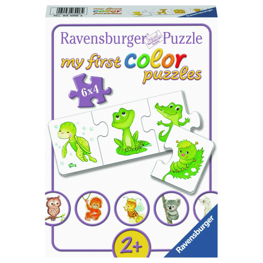 Ravensburger My first color Puzzles - Mis niños animales favoritos