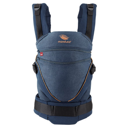 manduca Babytrage XT Cotton Denimblue-Toffee