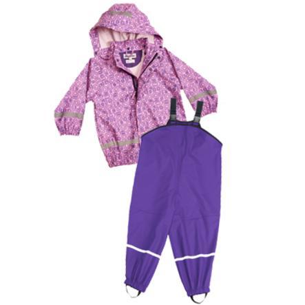 Playshoes Regenanzug Ornament rosa-lila