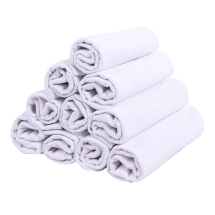 LULANDO Hydrofiele luiers 10 stuks wit 70 x 80 cm