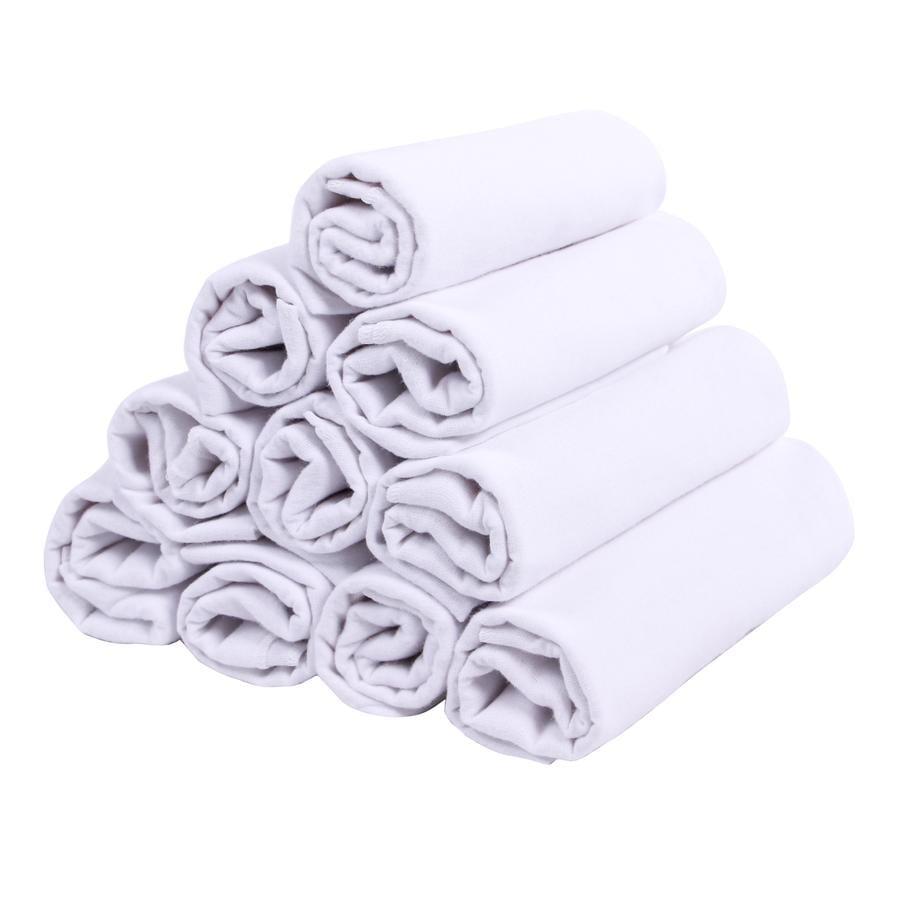 LULANDO Stoffwindeln 10 Stück weiß 70 x 80 cm