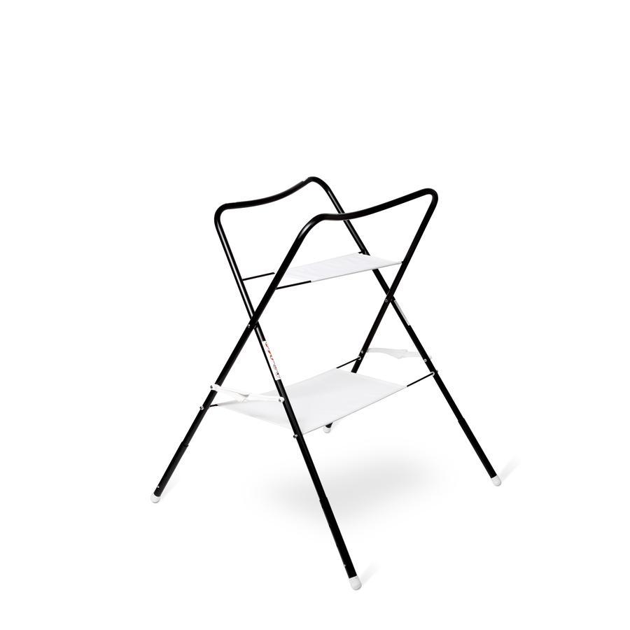 bieco Support de baignoire bébé lulu blanc/noir 100 cm