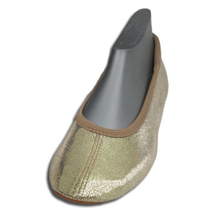 BECK Girls Ballerine GLITZER gold
