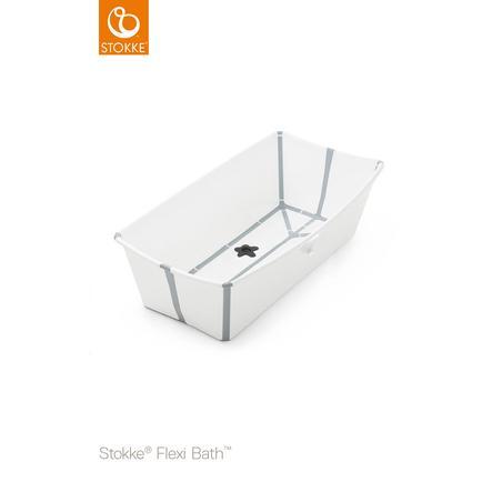 STOKKE® Badewanne Flexi Bath XL™ extra groß weiß mit hitzeempfindlichem Stöpsel ab der Geburt