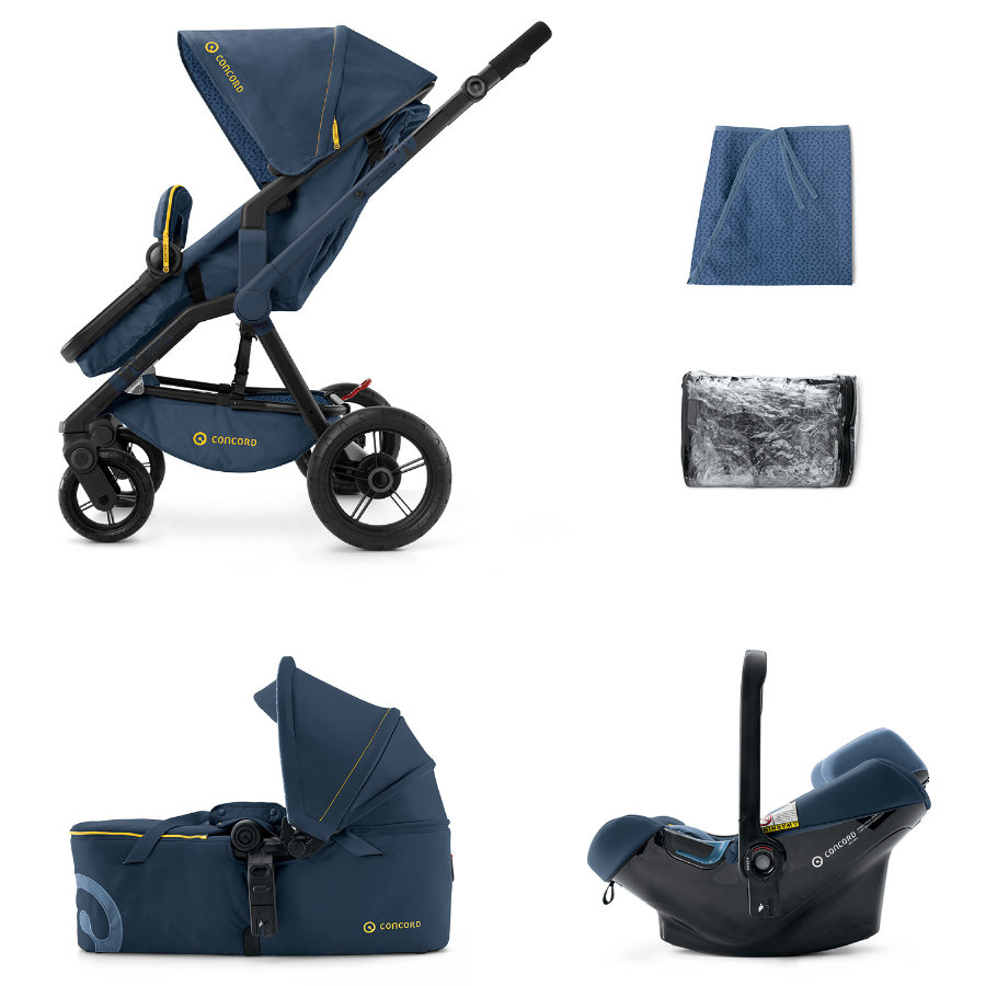 CONCORD Buggy Wanderer Mobility-Set Denim Blue