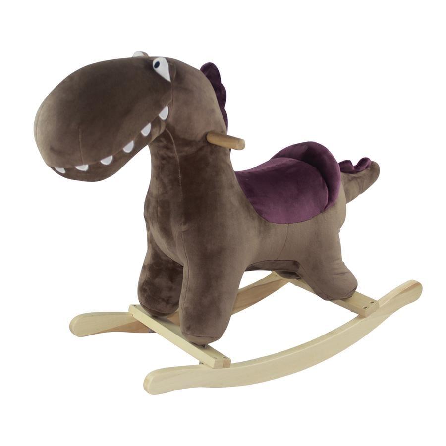 knorr® toys Dinosaure à bascule Henry brun bois
