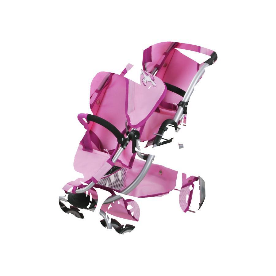 knorr® toys Zwillingspuppenwagen Milo - Uma das Einhorn