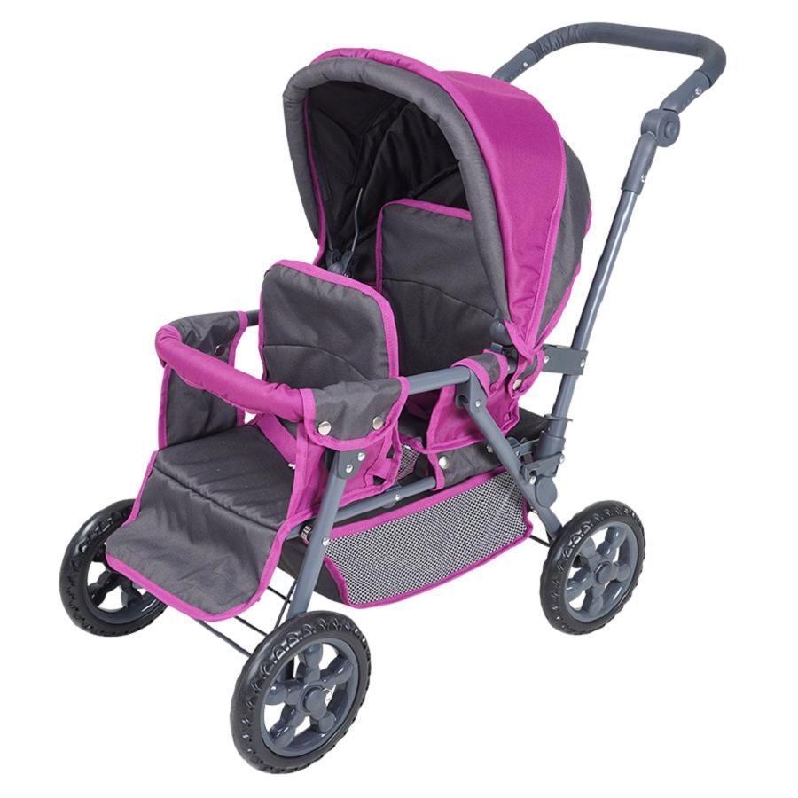 knorr® toys Zwillingspuppenwagen BigTwin - tec purple