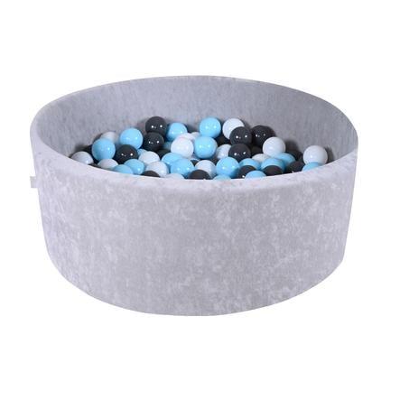 knorr® toys Piscine à balles enfant soft grey, 300 balles crème/gris/bleu clair