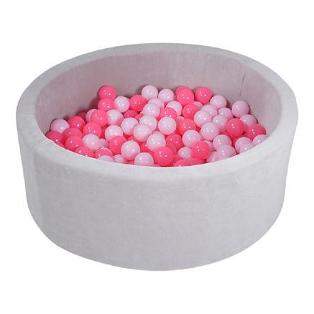 knorr® toys ballbad mykt - Grått inkludert 300 baller mykt rosa