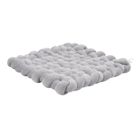 LULANDO tejido mate terciopelo gris mélange 80 x 80 cm