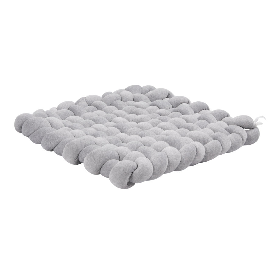 LULANDO Tapis d'éveil tressé velours mélange gris 80x80 cm