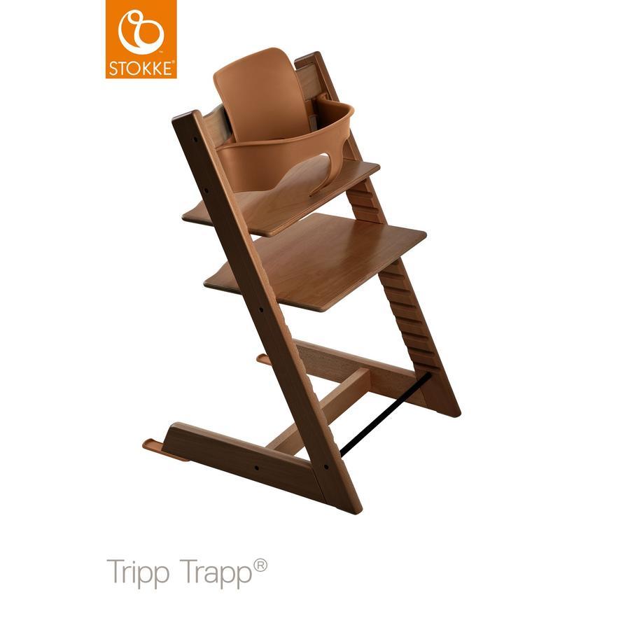 STOKKE® Tripp Trapp® Hochstuhl Buche walnussbraun inkl. Baby Set walnussbraun