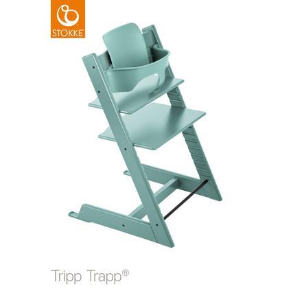 STOKKE® Tripp Trapp® syöttötuoli pyökkiä, sis. vauvaistuimen, turkoosi