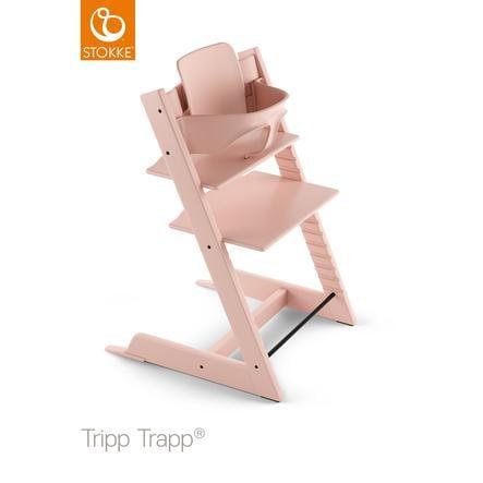 STOKKE® Tripp Trapp® Hochstuhl inkl. Baby Set Buche Serene Pink