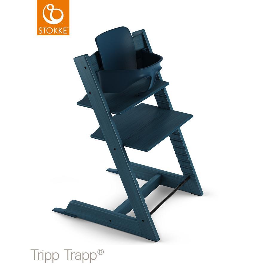 STOKKE® Tripp Trapp® Hochstuhl Buche Midnight Blue inkl. Baby Set Midnight Blue
