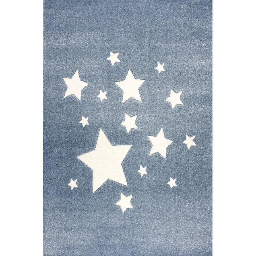 ScandicLiving Teppich Sterne blau, 120x180 cm