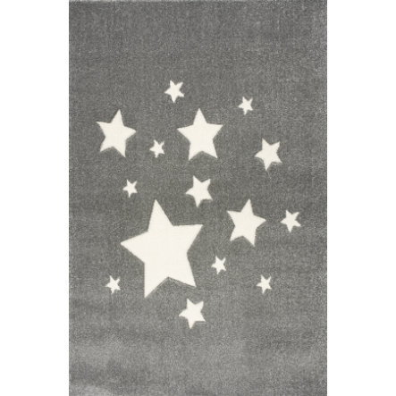 ScandicLiving Tappeto stelle grigio argento, 120x180 cm